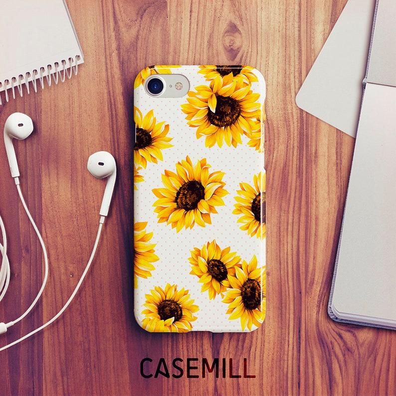 iPhone 7 Case iPhone 8 Case iPhone X Case Sunflower iPhone 6s image 0