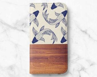 Wabi-Sabi Wood Print iPhone 12 Wallet iPhone 11 Wallet iPhone SE Wallet iPhone XR Wallet iPhone 8 Wallet iPhone XS Wallet iPhone 8 Plus