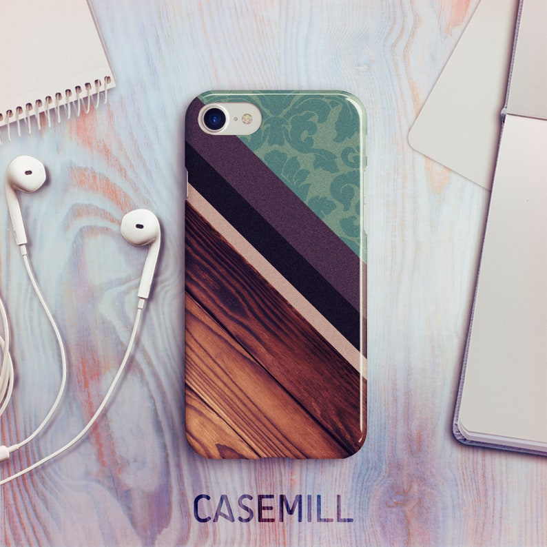 iPhone 7 Case iPhone 8 Case iPhone X Case Paisley Wood iPhone image 0