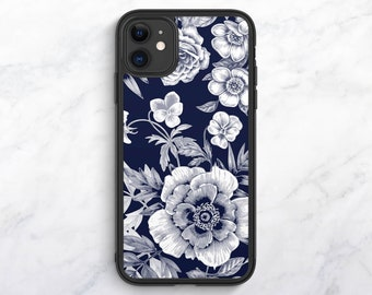 Blue Floral iPhone XR Case Floral iPhone XS Case iPhone 8 Plus Case iPhone Xs Max Case Floral iPhone 8 Case iPhone 7 Case iPhone SE Case