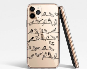 Birds Clear Case for iPhone, Samsung, Huawei, Google Pixel - iPhone 12, iPhone 11, iPhone SE, iPhone XR, Samsung S21, S21, S10, S9, S8