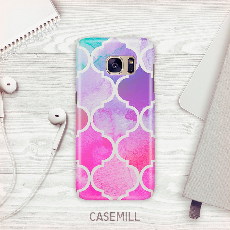 Watercolour Pattern Case For Samsung Galaxy S9 Pink Wash Case image 0