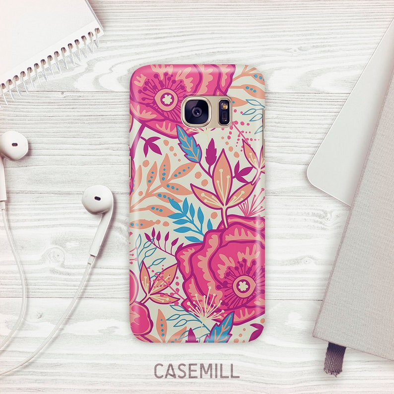 Coral Jungle Case For Samsung Galaxy S9 Floral Case For image 0