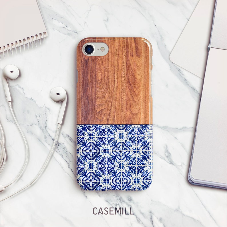 Portuguese Tile iPhone 7 Case iPhone 8 Case iPhone X Case image 0