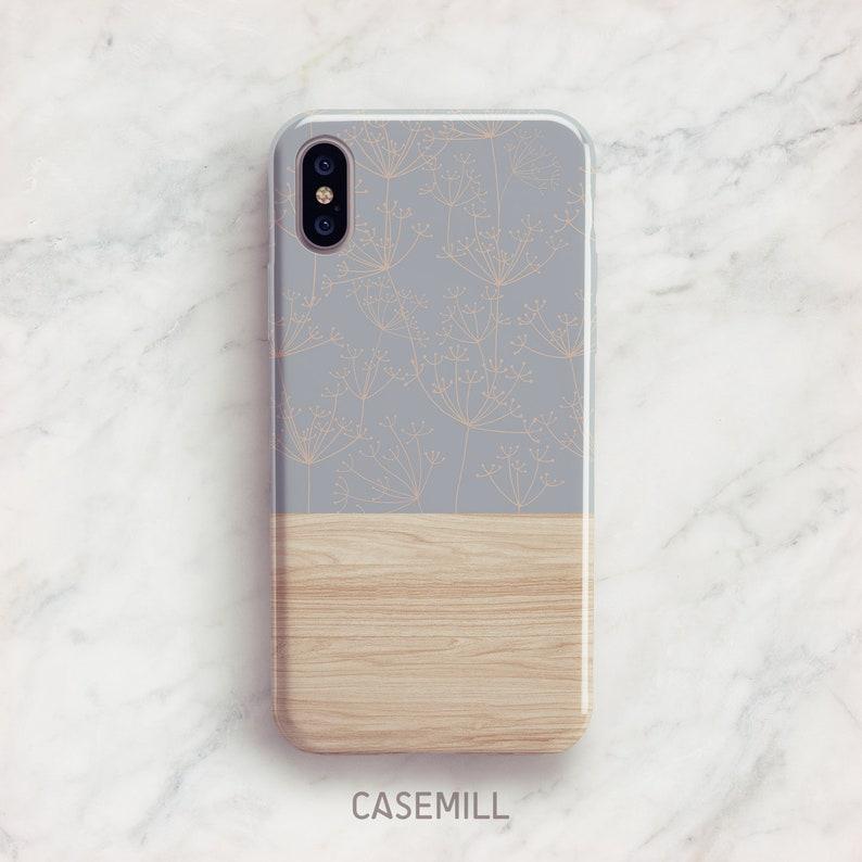 Dandelion Wood Print iPhone 7 Case iPhone 8 Case iPhone X Case image 0