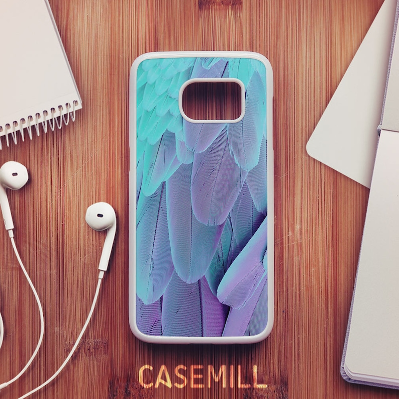 Blue Feather Case For Samsung Galaxy S8 Feather Case For image 0