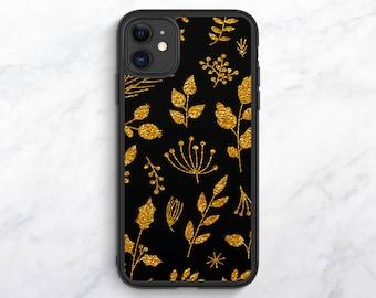Gold Floral iPhone 12 Case Floral iPhone 11 Case iPhone XR Case iPhone XS Case Floral iPhone 8 Case iPhone 7 Plus Case iPhone SE Case 6s