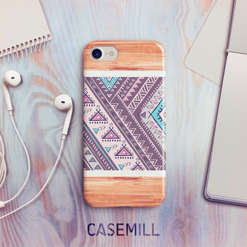 iPhone 7 Case iPhone 8 Case iPhone X Case Tribal Wood iPhone image 0