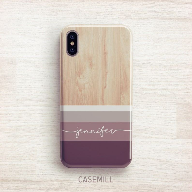 Striped Wood Personalized iPhone 8 Case iPhone 7 Case iPhone 8 image 0