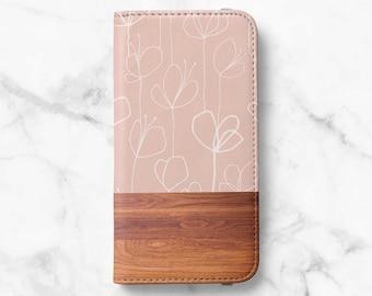 Mocha Wood Print iPhone 12 Wallet iPhone 11 Wallet iPhone SE Wallet iPhone XR Wallet iPhone 8 Wallet iPhone XS Wallet iPhone 8 Plus