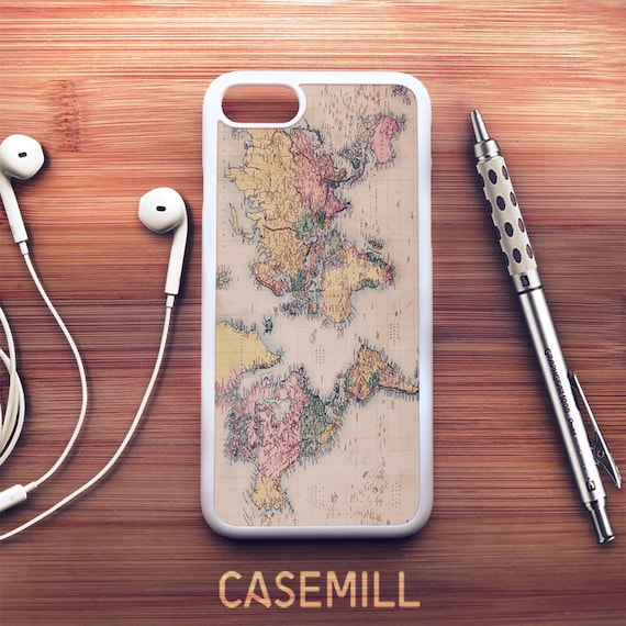 World map iphone 8 case world map iphone 7 case traveller etsy image 0 gumiabroncs Images
