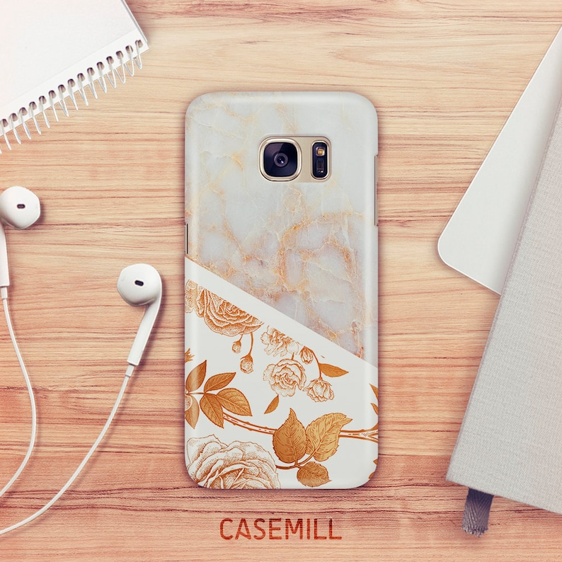 Floral Marble Case For Samsung Galaxy S9 Stone Marble Case For image 0