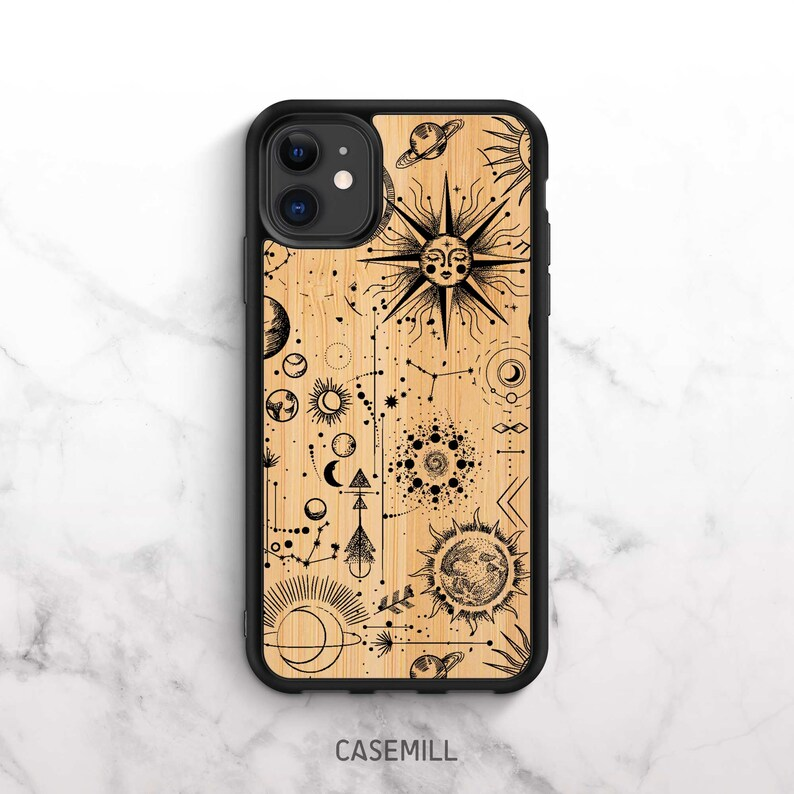 Wooden iPhone 12 Case iPhone 11 Case Bamboo iPhone XR Case image 0