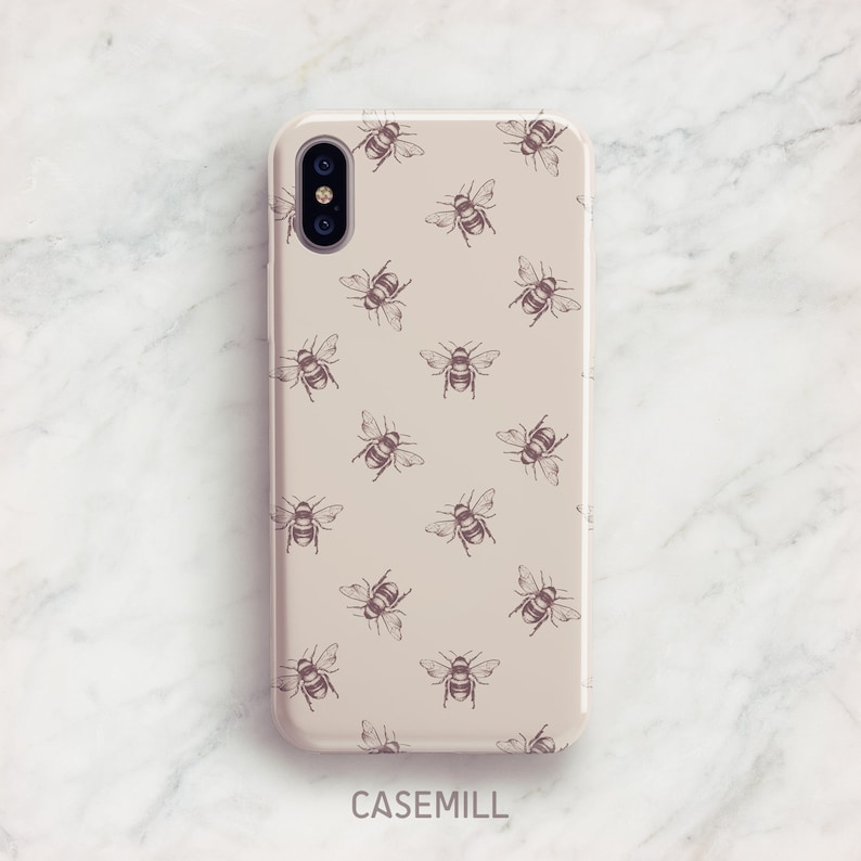 buy popular 6f3e9 78e79 Pink Bee Pattern iPhone 7 Case iPhone 8 Case iPhone X Case iPhone 7 Plus  Case iPhone Case iPhone 8 Plus Case iPhone 6s Case iPhone XS Case