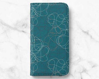 Abstract Line iPhone 12 Wallet iPhone 11 Wallet iPhone SE Wallet iPhone XR Wallet iPhone 8 Wallet iPhone XS Wallet iPhone 12 Mini