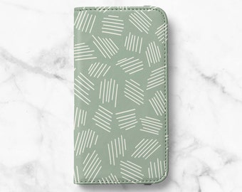 Abstract Dash Print iPhone 13 Wallet, iPhone 13 Pro 12 Wallet iPhone 11 Wallet iPhone SE Wallet iPhone 8 Wallet iPhone XS Wallet iPhone XR