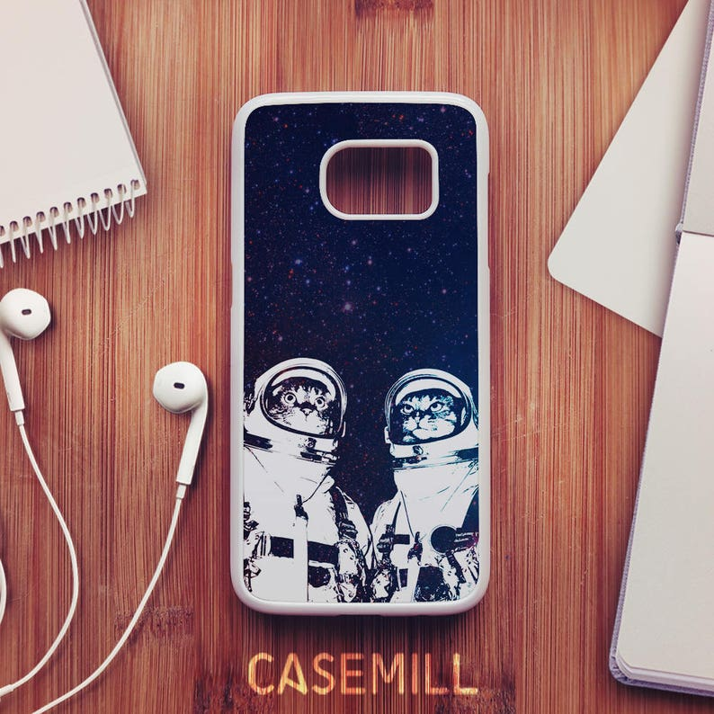 Cat Astronaut Case For Samsung Galaxy S8 Cat Case For Samsung image 0