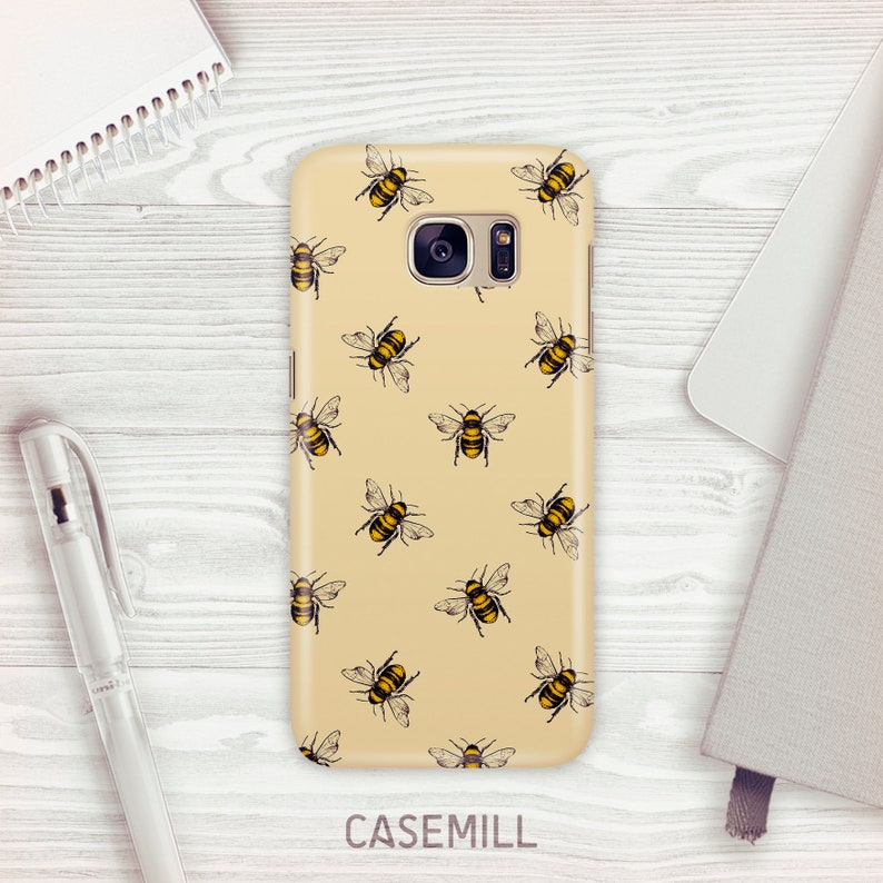 Yellow Bee Print  Case For Samsung Galaxy S9 Moroccan Tile image 0