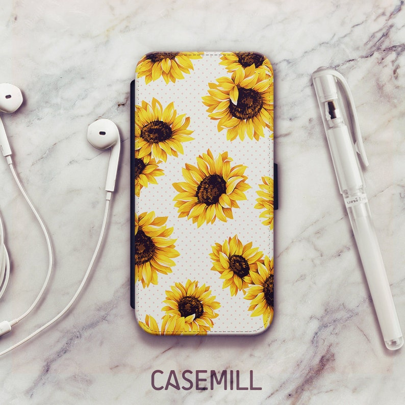 promo code 86fae 7c184 Sunflower iPhone 8 Wallet Case, Sunflower iPhone 6s Wallet Case, iPhone X  Wallet Case, iPhone 7 Wallet Case, iPhone SE Wallet Case