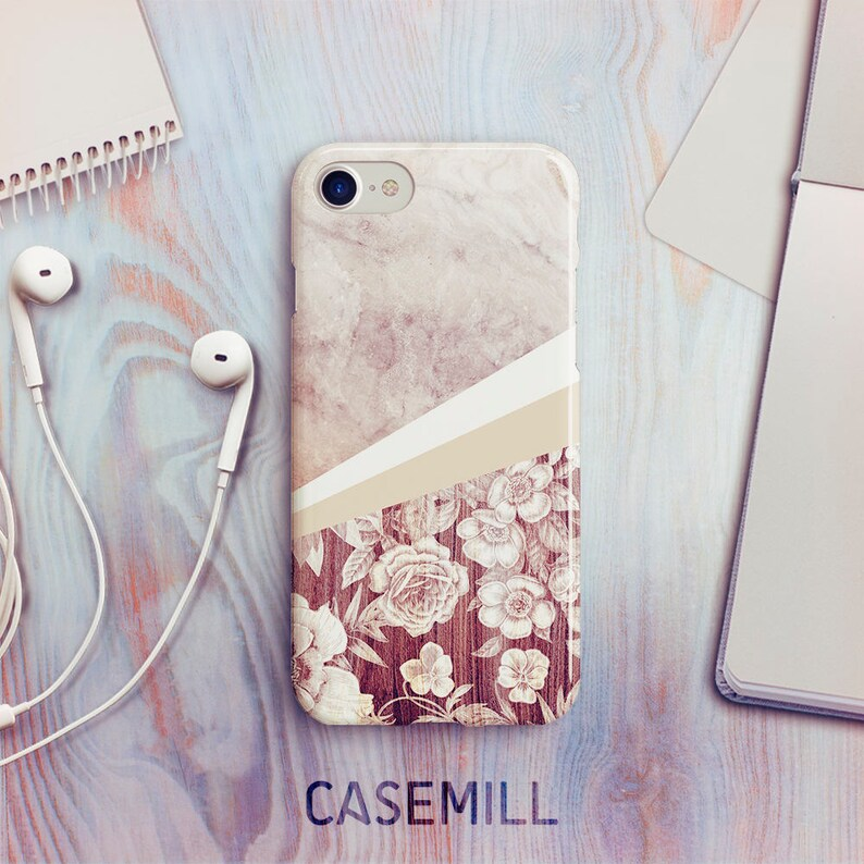Floral Marble iPhone 7 Case iPhone 8 Case iPhone X Case iPhone image 0