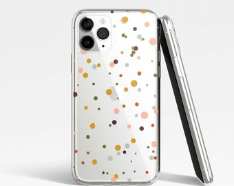 Dots Terrazzo Clear Case for iPhone, Samsung, Huawei, Google Pixel - iPhone 12, iPhone 11, iPhone SE, iPhone XR, Samsung S21, S20, S10, S9