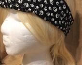 Skulls black headband sugar skulls