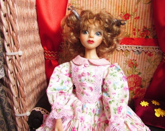 OOAK doll, collectible doll, clay doll, interior doll, handmade doll, art sculpture doll, handcrafted doll made of polymer clay.