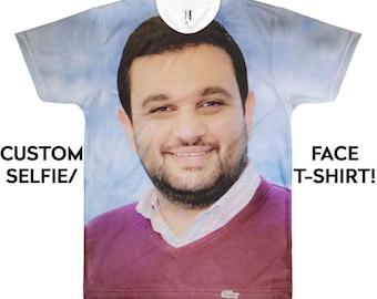 32c14c1e Face T-shirt - Custom Face - Funny T-shirt - Custom T-shirt - Funny Gift -  Personalized - Customized -T-shirt - Gift for him - Gift for her
