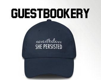 deaf8f9c416 Nevertheless She Persisted Hat - Dad Hat - Dad Cap - Baseball Hat -  Elizabeth Warren