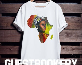 774726df072 African Woman T-shirt - African Clothing - African - Graphic Tees - Nubian  - Black Lives Matter - Colorful T-shirt - Africa - Afrocentric