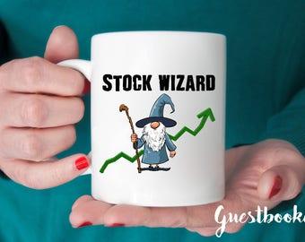 stock wizard mug stocks mug stock gift stock trading gift stock trader mug stock market gift stock market mug wall street mug