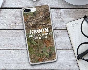 Groom iPhone Case - Groom Phone Case - Custom Phone Case - Camouflage iPhone Case - Camo Phone Case - The Hunt is Over - Camouflage - Camo