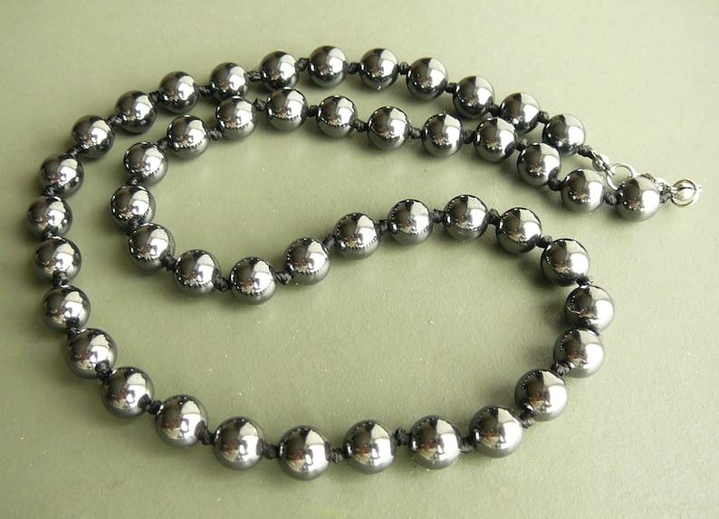 ac11c0884c3 Colliers de perles hématite collier hématite pour cadeau homme
