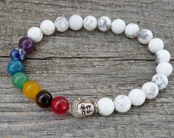 Chakra Bracelet, Mala bracelet, Buddha bracelet, Yoga bracelet, 7 Chakra Bracelet, Meditation Bracelet, Gemstone bracelet, Gift for Her