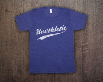 UNATHLETIC - Mens Unisex American Apparel Tri-Blend T-Shirt - funny vintage  sports geek tee 9904032d2