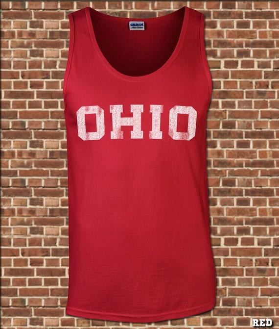 BLOQUER l'OHIO Mens Tank Top - toutes tailles disponibles - état de l'ohio sans manches piste maillot vintage muscle tee UG