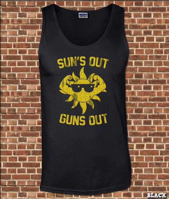 FUSILS à mens Tank Top toutes les tailles disponibles soleils drôles sur tee de muscle vintage fête de lunettes de soleil relâche florida plage UG582