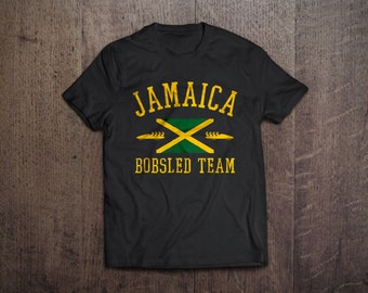 JAMAICA mens T-Shirt all sizes available cool funny jamaican bobsled team olympic flag sport runnings vintage tee UG497