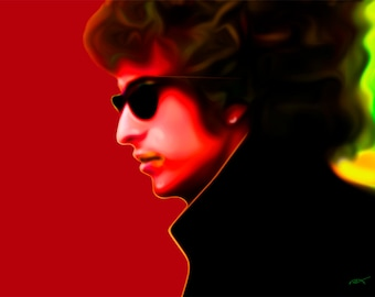 Bob Dylan...gallery wrapped stretched canvas or luster paper print, pop art, wall decor
