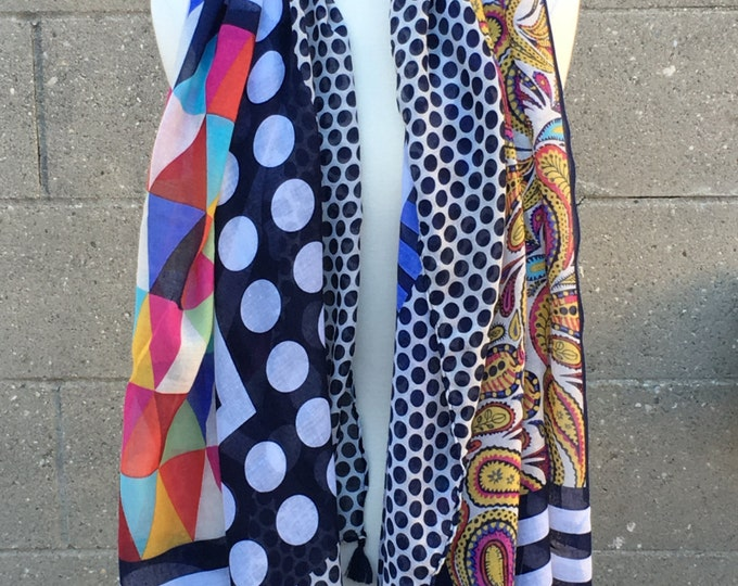 Sale! New Beautiful Pattern Tartan Scarf Wrap Shawl Thin Lightweight Multi Vivid Color