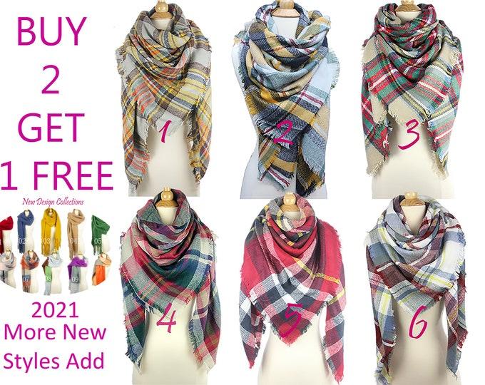 Winter Plaid Blanket Scarf, Tartan Plaid Scarf, Tartan Scarf, Oversized Scarf, Shawl Wraps, Blanket Pashimina Shawl