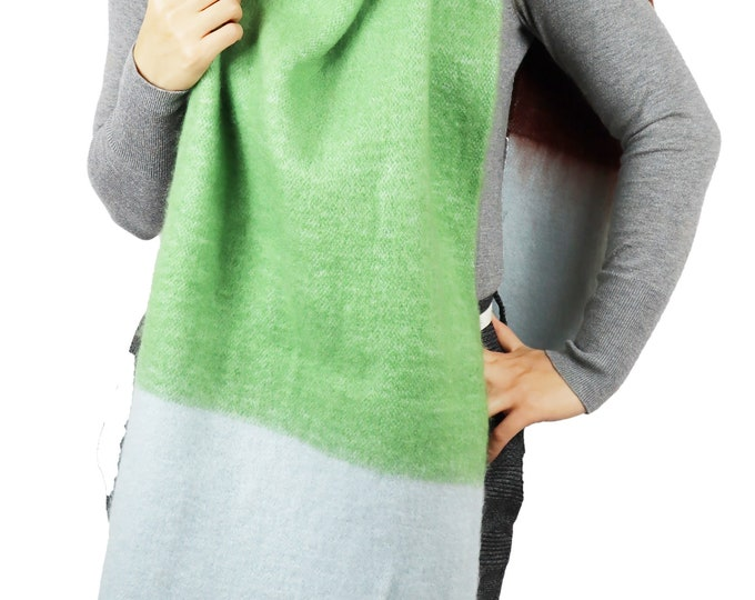 Long Chunky Knit Blanket Shawl Wrap Scarf