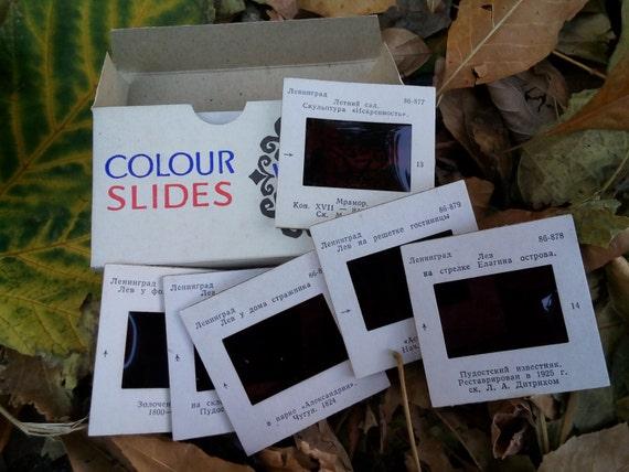 Diapositive slides Collectibles Slides in box Gift idea 68 pieces slides Vintage photo slides Historic and architectural landmarks