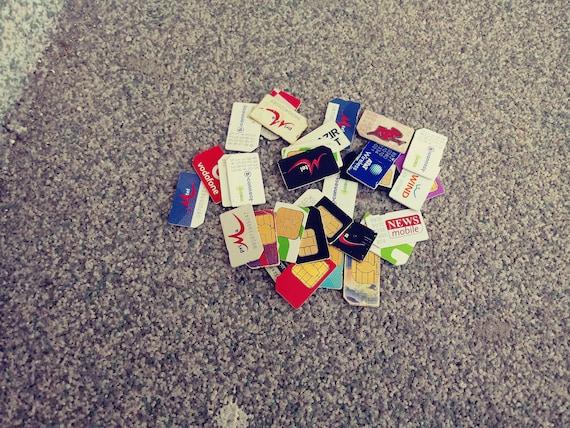 Mobile operators Sim Card, Telephone sim card, Vodafone sim card