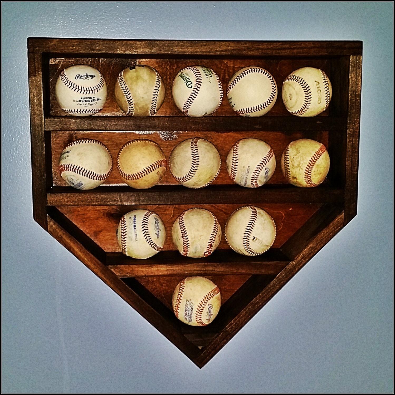 Wood home plate baseball holder  d0e270b4759c