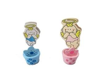 "3"" Spring Bobble Favor - Angel #0532 (12) - Baby Shower/ Baptism - Free Shipping!"