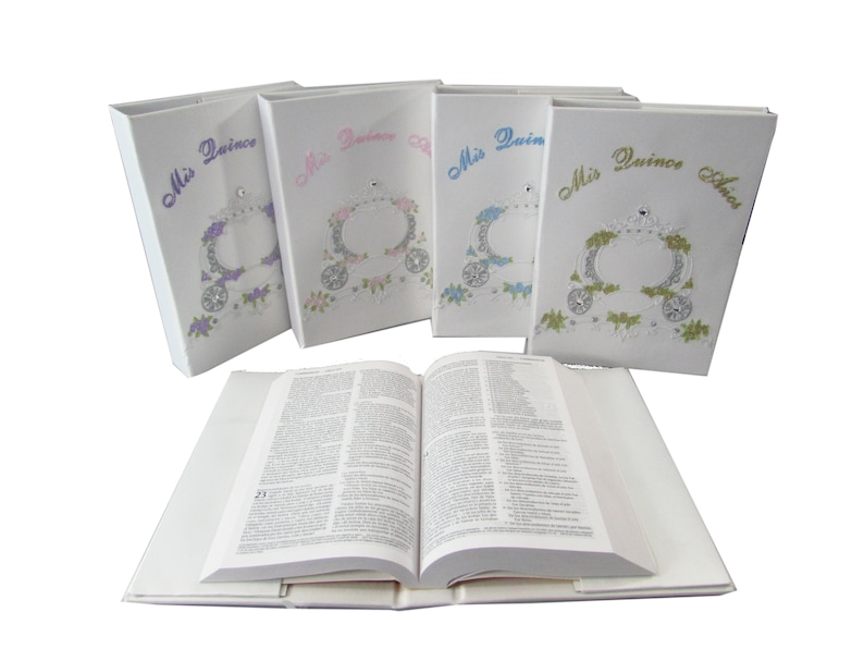 Quinceanera bible Satin BIBLE 1 Mis Quince Anos Coach design