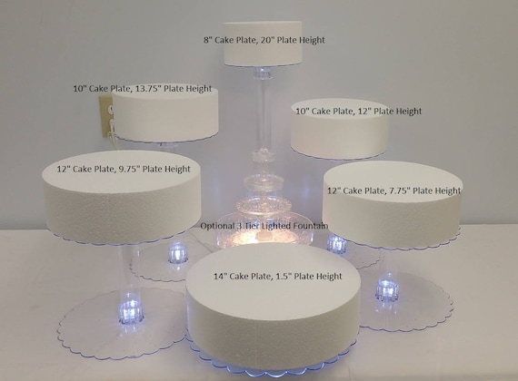 Multi Tier Wedding Cake Stand With Led Lights And Optional Etsy
