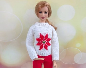 Items Similar To Barbie Doll Clothes Hand Knitted Dark Ecru Sweater