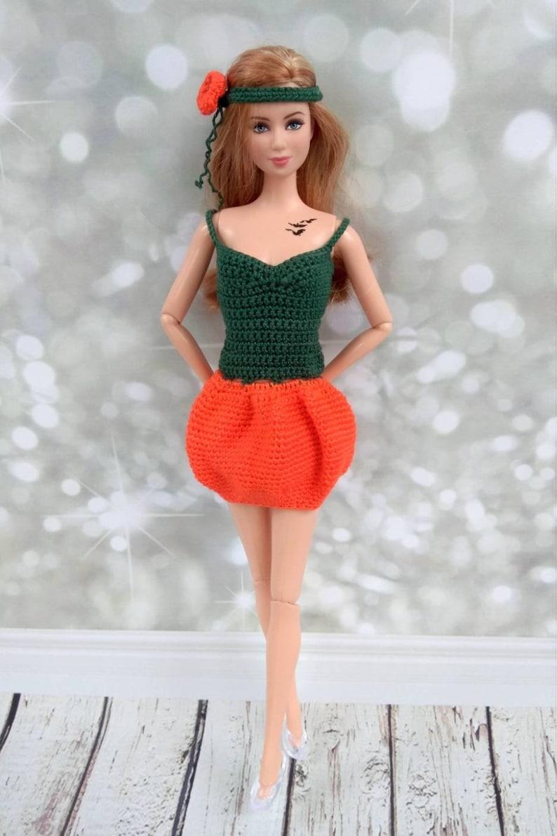 Vestiti Barbie Halloween. A mano all uncinetto fantasia  ec58c803d0e5